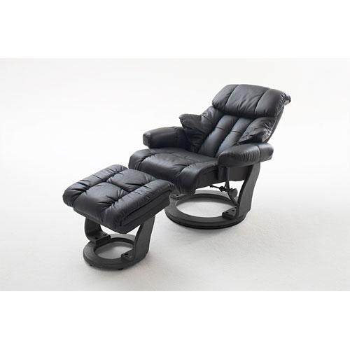 Relaxsessel mit Hocker Fernsehsessel Leder Wohnzimmersessel Echtleder 34011  eBay