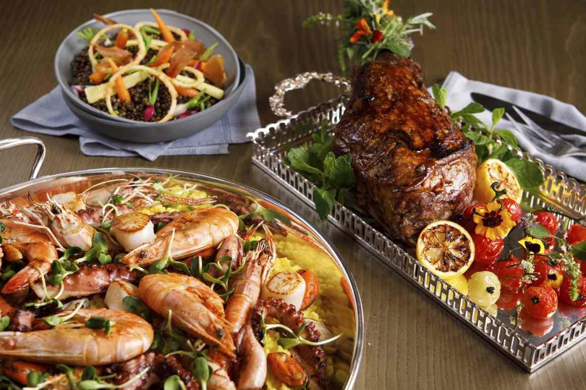 Paella, salada de lentilhas e cordeiro_Jantar de Reveillon Blanc de Blancs_Salao Cristal_2.jpg