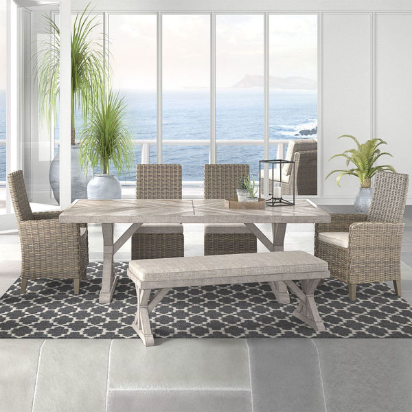 Beach House 6 Piece Dining Room Set With Bench P791 Patio Furniture At Lifestyle Furniture By Babette S Leesburg The Villages