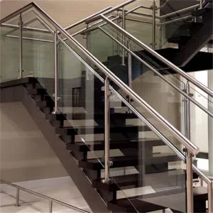 China Floating Stairs With Glass Railing Suppliers Manufacturers   Glass Stair Railing Home Depot   Gaoming 316   Hot Selling   Iron Railings Interior   Railing Systems   Concrete