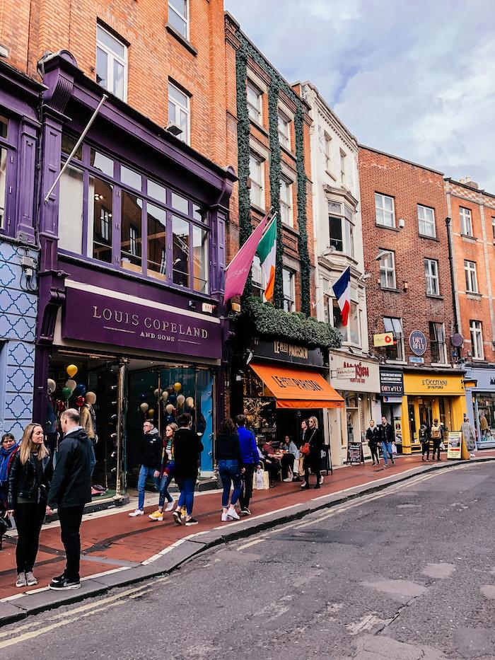Dublin Irland Shopping Colors