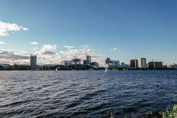 Rundreise Neuengland Staaten Boston Charles River Aussicht