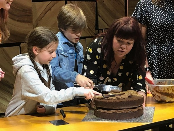 Briony Williams, Great British Bake Off at Bristol Hippodrome with cast of Matilda The Musical