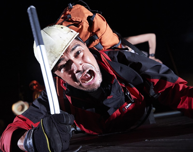 Josh Williams as Joe Simpson in Touching The Void at Bristol Old Vic