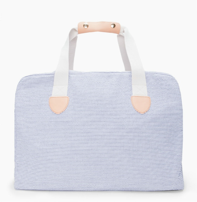 A.P.C. Striped Weekend Bag