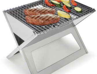The Fold Flat Grill By Hammacher Schlemmer