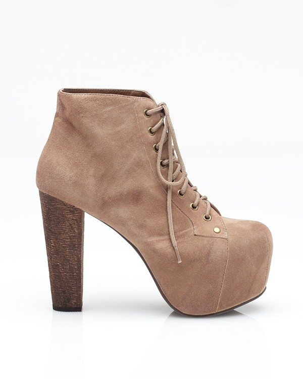Jeffrey Campbell Lita In Taupe Suede