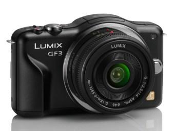 Panasonic Lumix DMC-GF3CK Kit Black with 14mm Pancake Lens for $314