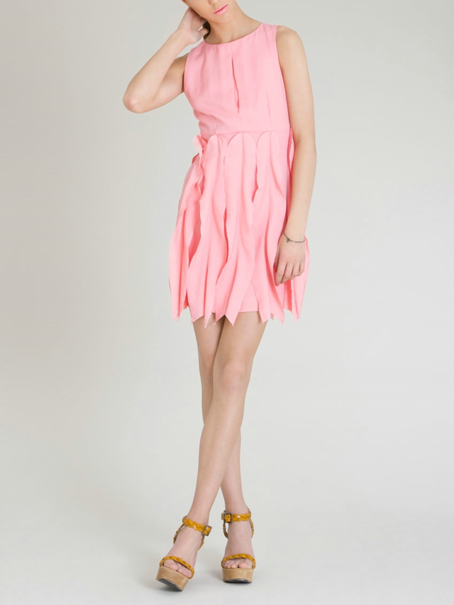 Small Waves Silk Dress by Rosario Boncoraglio