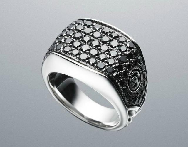 Black Diamond Chevron Ring by David Yurman