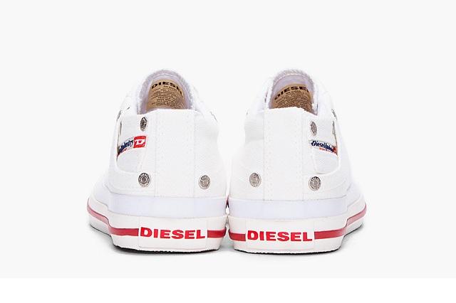 Diesel White Low Exposure Sneakers