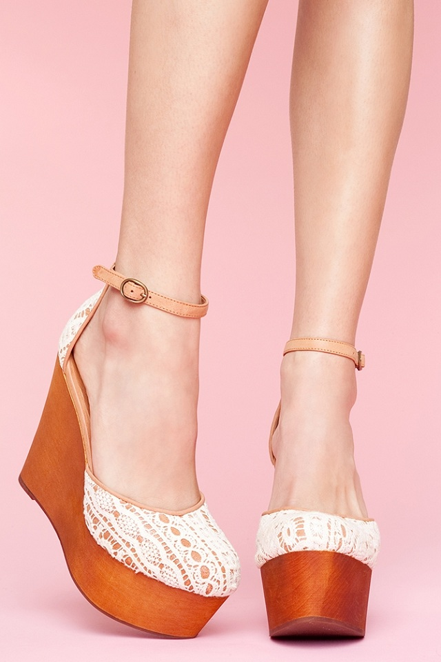 Jeffrey Campbell Bette Platform Wedge-Ivory