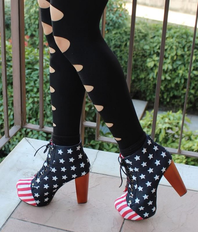 Jeffrey Campbell Lita Platform Boot - American Flag