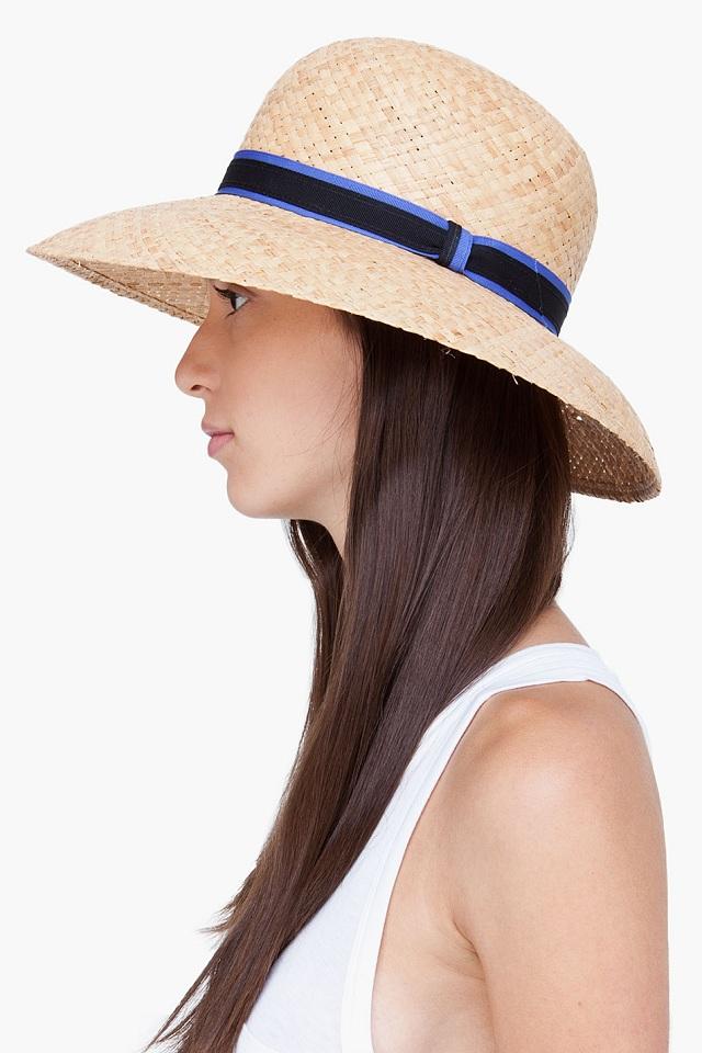 Rag & Bone Straw Wide Brim Beach Hat