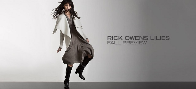 RICK OWENS Lilies Fall Preview at MYHABIT