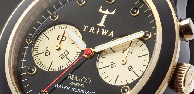 TRIWA Ebony Gold Brasco Chrono