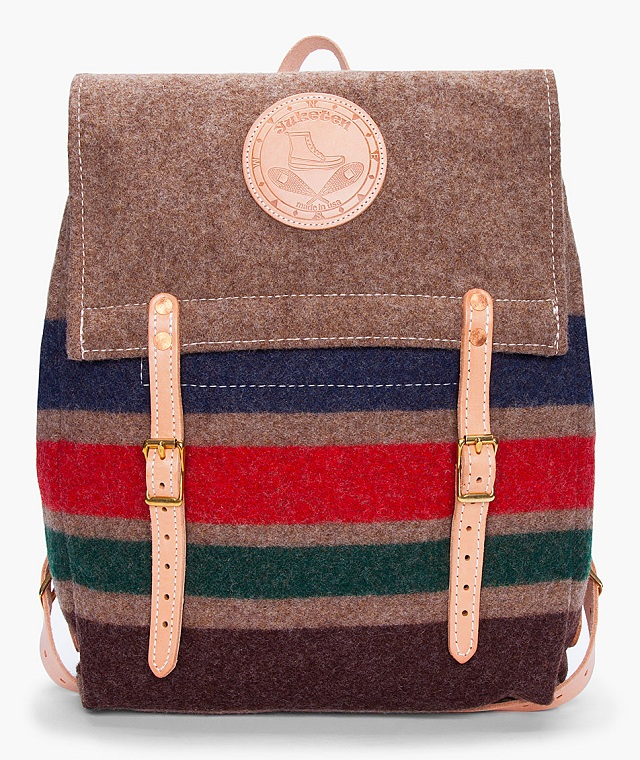Yuketen Striped Wool Canoe Backpack