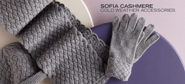 Sofia Cashmere: Cold Weather Accessories at MYHABIT
