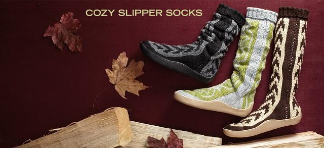 Cozy Slipper Socks at MYHABIT