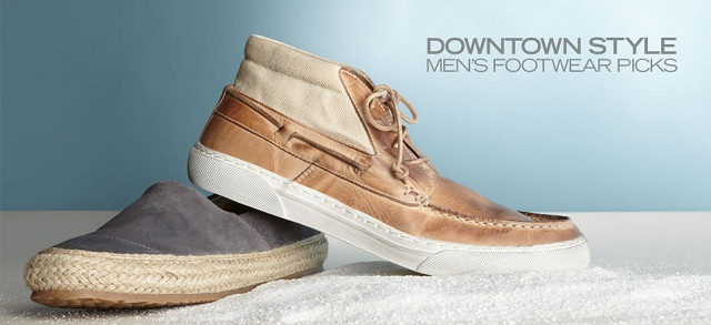 Downtown Style: Men's Footwear Picks at MYHABIT