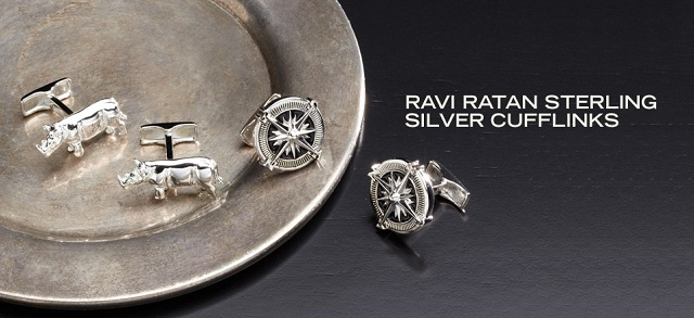 Ravi Ratan: Sterling Silver Cufflinks at MYHABIT