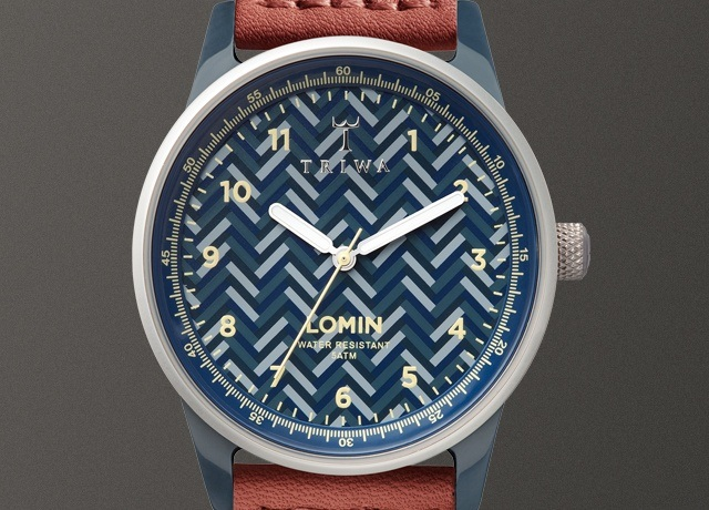 TRIWA Blue Chevron Lomin Watch