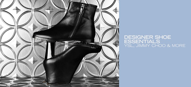 Designer Shoe Essentials: YSL, Jimmy Choo & More at MYHABIT