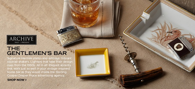 ARCHIVE: The Gentlemen's Bar, featuring Hermès Ashtrays, Vintage Corkscrews & More at MYHABIT