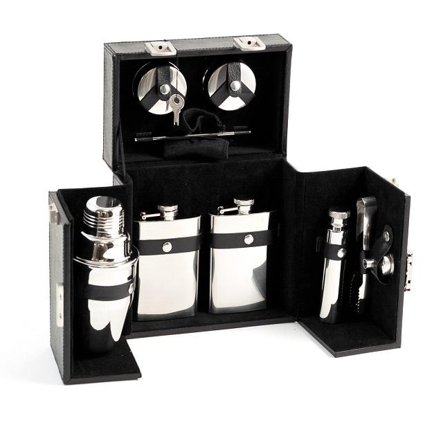 Bey Berk International BS913 10 Piece Flask Shaker Set
