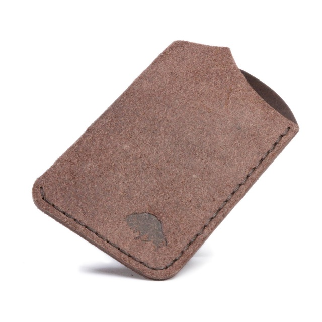 Bison Made Suede Front Wallet