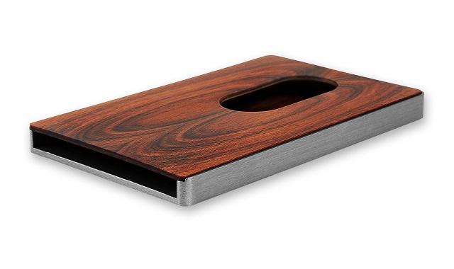 Cardissimo Hardwood Card Case  Santos Palisander_3