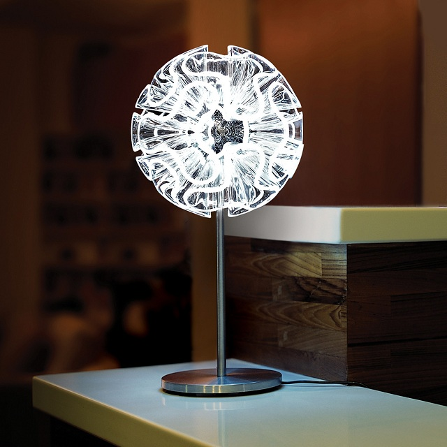 Coral Table Lamp by QisDesign for Square Walnut