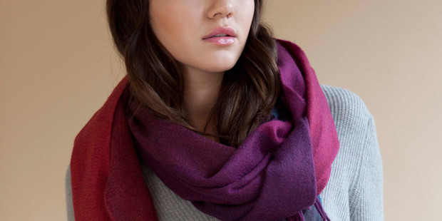 Cozy Up with Cashmere Qi Scarves