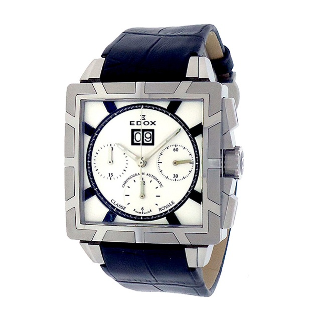 Edox AINO Classe Royale Chronograph Watch White