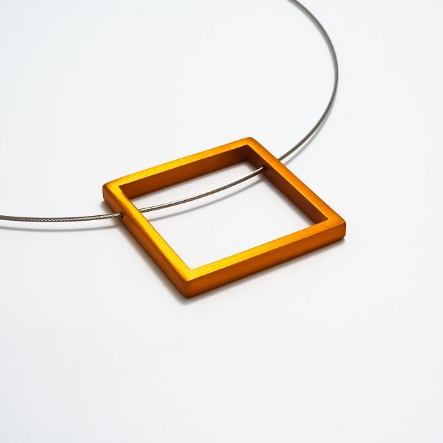 Filip Vanas / Aluminum Square Pendant w/ Steel Cable