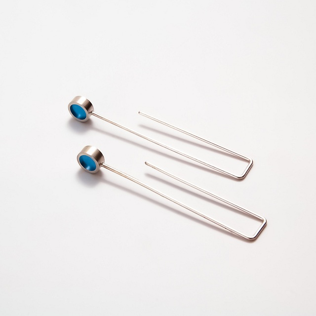 Filip Vanas / Silver & Epoxy Resin Earrings // One Circle