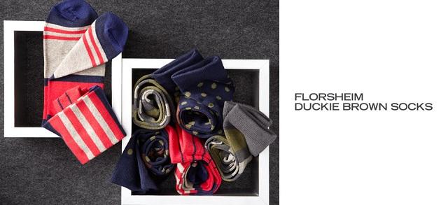 Florsheim Duckie Brown Socks at MYHABIT