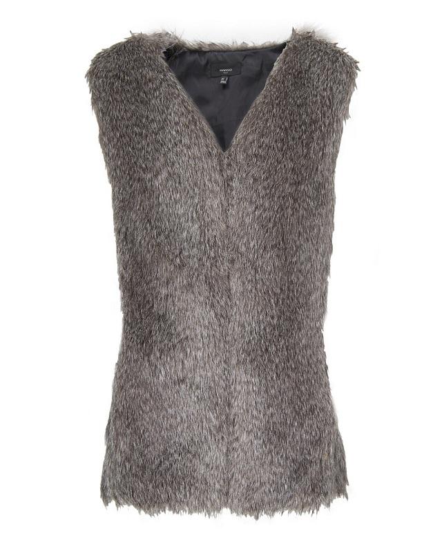 MANGO Faux Fur Vest_2