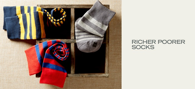 Richer Poorer Socks at MYHABIT