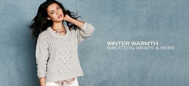 Winter Warmth: Sweaters, Wraps & More at MYHABIT