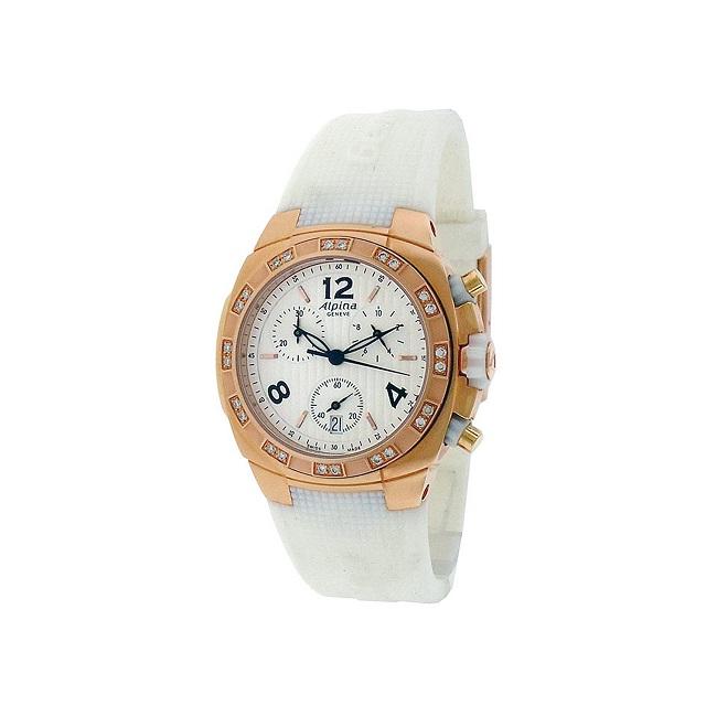Alpina Avalanche Ladies Chronograph Quartz Watch + Diamond Bezel