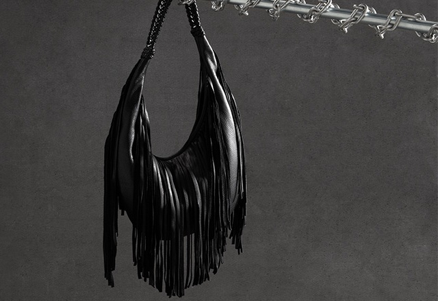 B-Low The Belt Bullet Baby Fringe Hobo Bag