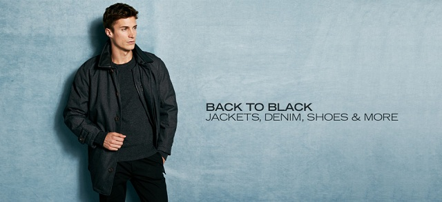 Back to Black: Jackets, Denim, Shoes & More at MYHABIT