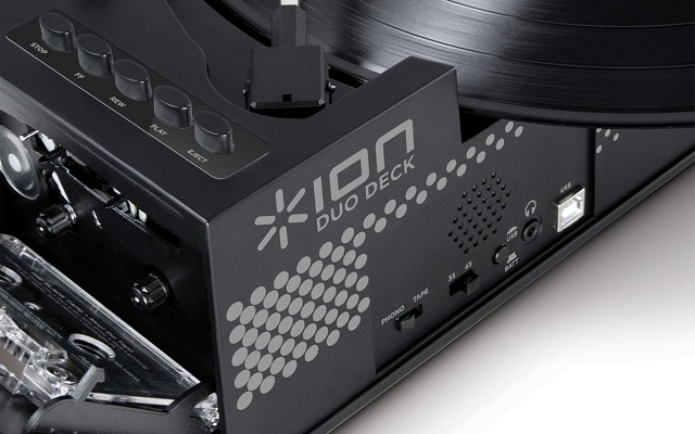Ion Duo Deck Ultra-Portable USB Turntable with Cassette Deck_4