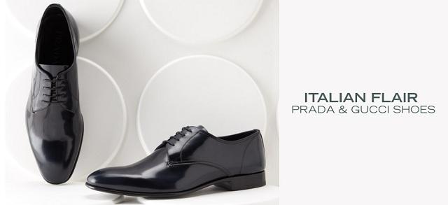 Italian Flair: Prada & Gucci Shoes at MYHABIT