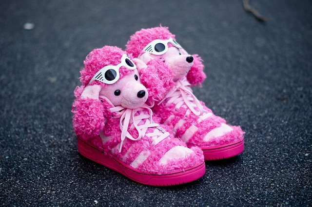differently a63e3 d0b89 Jeremy Scott x adidas Originals JS Pink Poodle 2