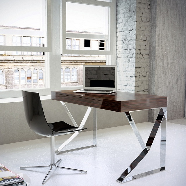 Modloft Houston Desk - Ebony Lacquer