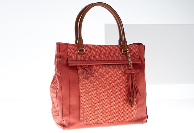 Nanette Lepore Women's Woven Textured Leather Tote Bag