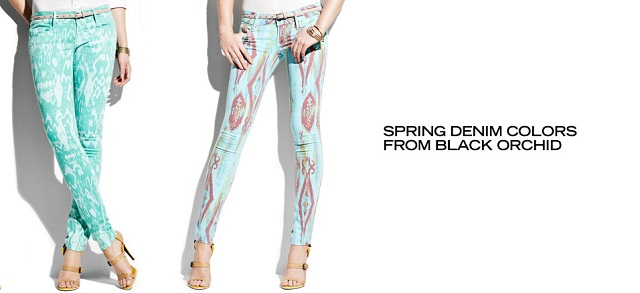 Spring Denim Colors from Black Orchid at MYHABIT