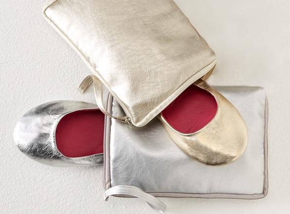 CitySlips Women's Ballet Flats with Wristlet
